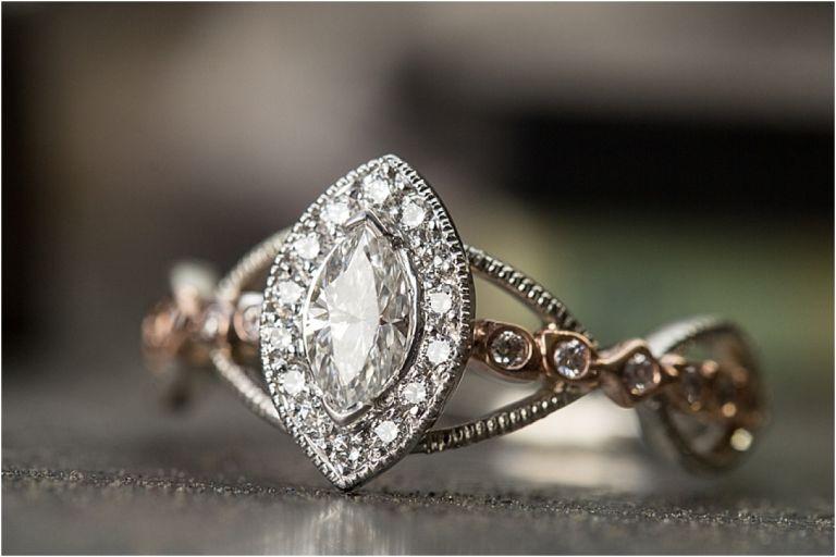 Vintage Rings Diamond Marquis Engagement Ring   Custom Rings   Hill City Bride