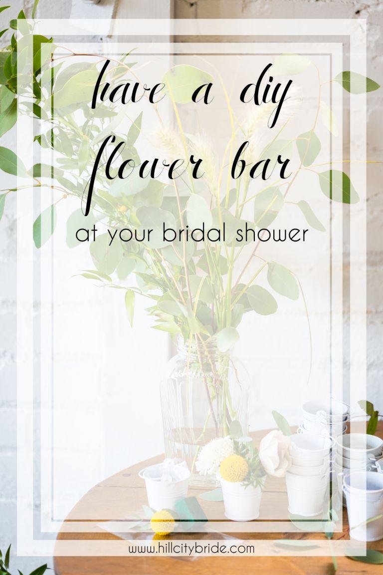 DIY Flower Bar Bridal Shower   Build Your Own Bouquet Bar   Hill City Bride Virginia Weddings Blog