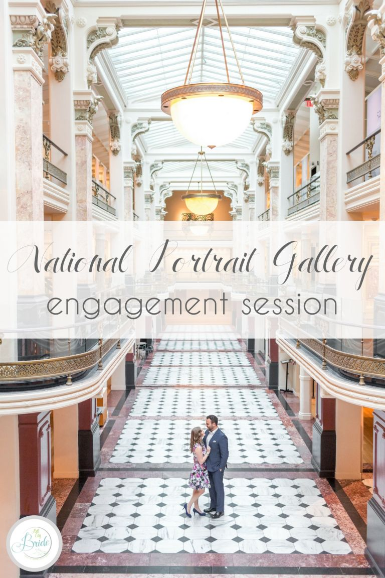 Washington DC National Portrait Gallery Engagement Session as seen on Hill City Bride Virginia Wedding Blog by Kir2ben