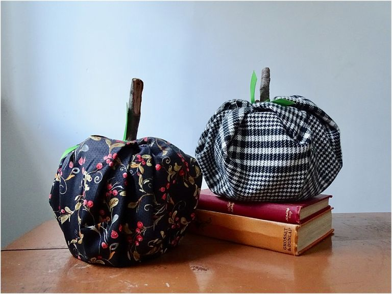 How to Make Fabric Pumpkins Without Sewing Interior Fall Decorations | Hill City Bride Virginia Weddings Blog