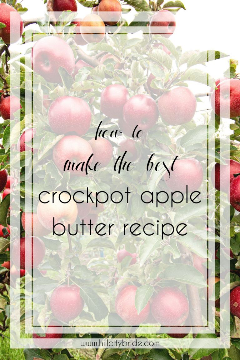 How to Make the Best Crockpot Apple Butter Recipe | Hill City Bride Virginia Recipes