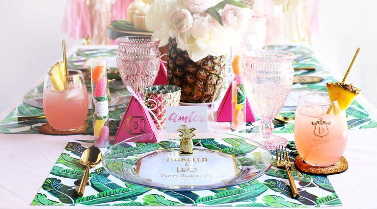 Tropical Bridal Shower Inspiration as seen on Hill City Bride Wedding Blog Virginia Magazine