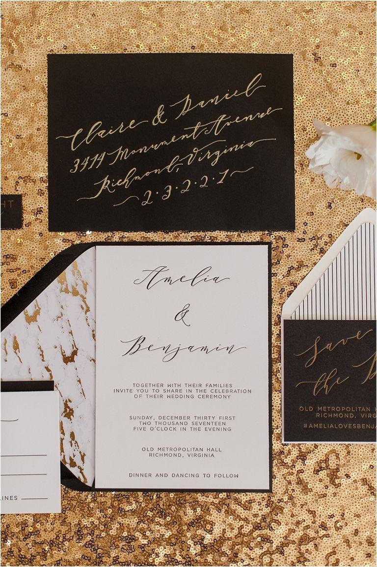 New Year's Eve Wedding Inspiration   Hill City Bride Virginia Wedding Blog - NYE Invitations