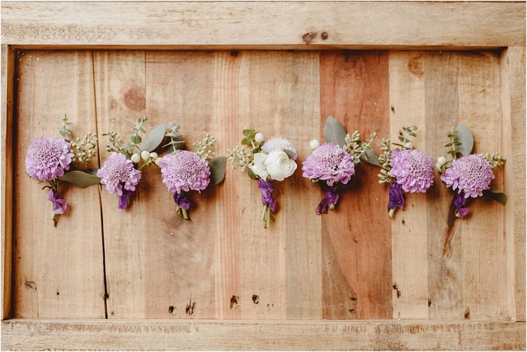 Vintage Heirloom DIY Wedding at the Aviary in Lynchburg Virginia Purple Lavender | Hill City Bride Wedding Blog Bouts Boutonnieres Fiftyflowers Fifty Flowers