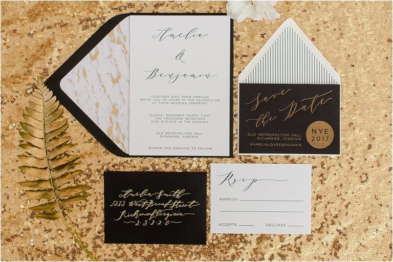 New Year's Eve Wedding Inspiration   Hill City Bride Virginia Wedding Blog - NYE Stationery