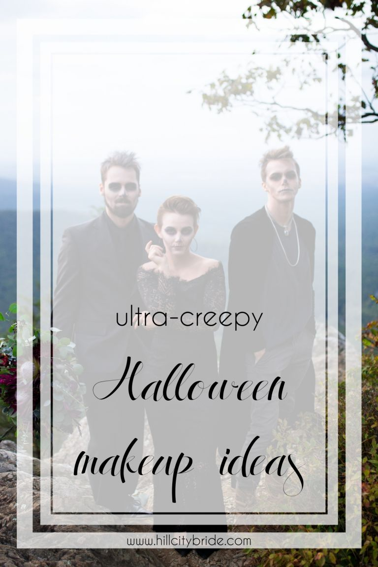 Creepy Halloween Makeup Ideas for Your Engagement Session or Wedding | Hill City Bride Virginia Weddings Blog