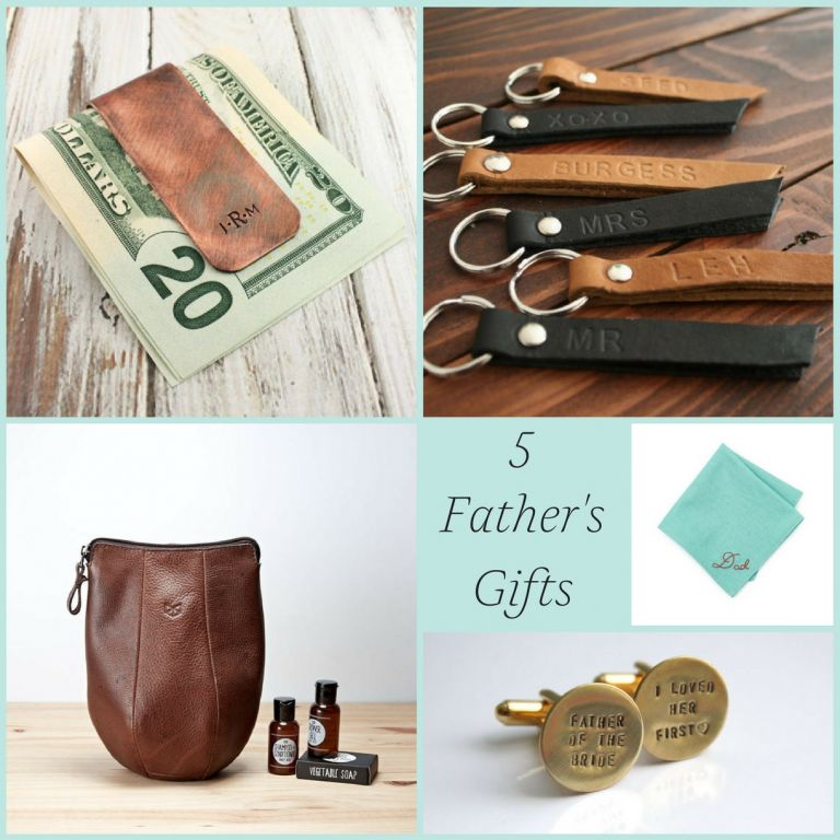 5 Father of the Bride and Father's Day Gifts as seen on Hill City Bride Wedding Blog