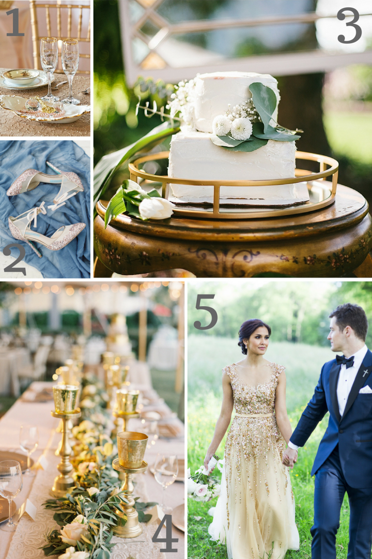 Gold Wedding Inspiration as seen on Hill City Bride