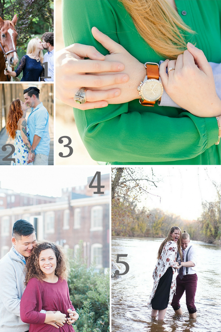 Engagment Session Inspiration as seen on Hill City Bride Wedding Blog