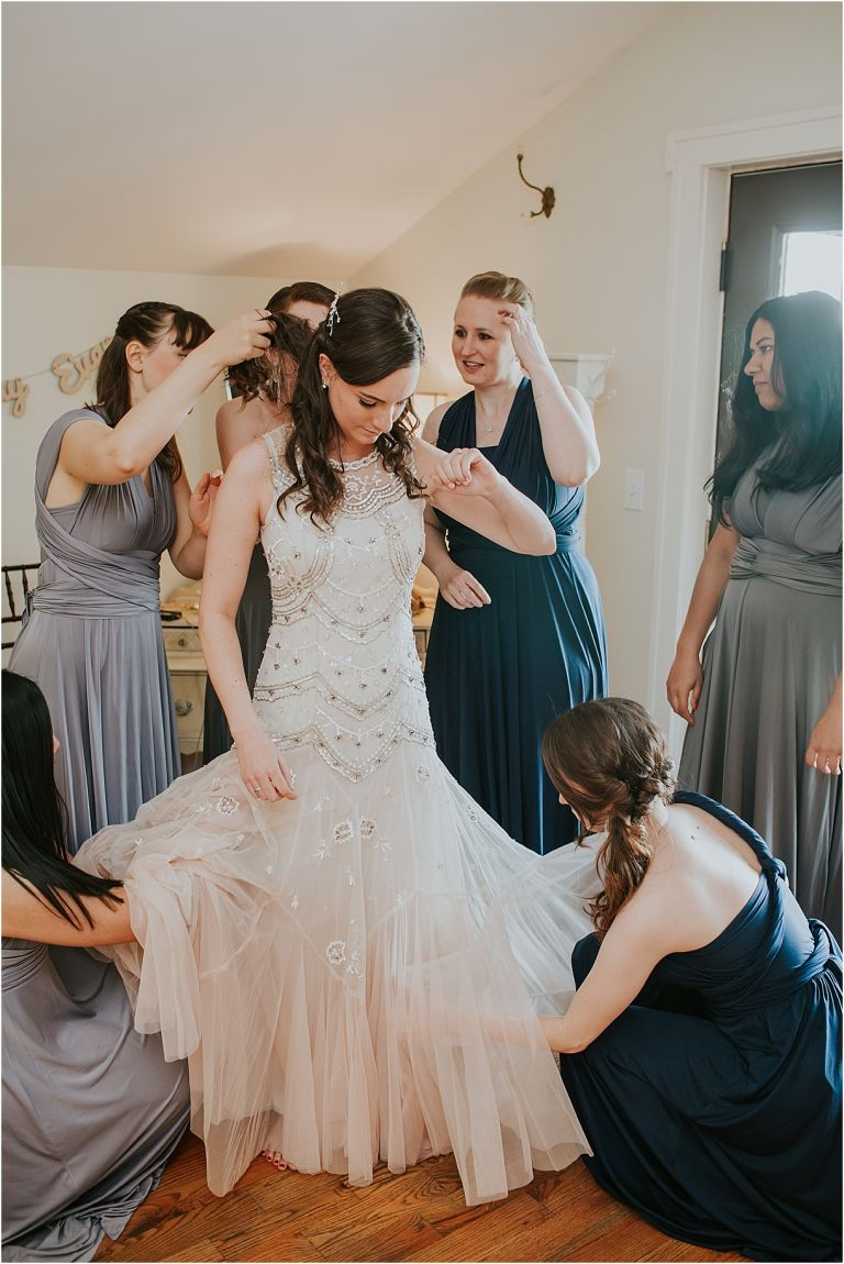 Lovely Virginia Vineyard Wedding as seen on Hill City Bride Blog by Vness Photography - getting ready