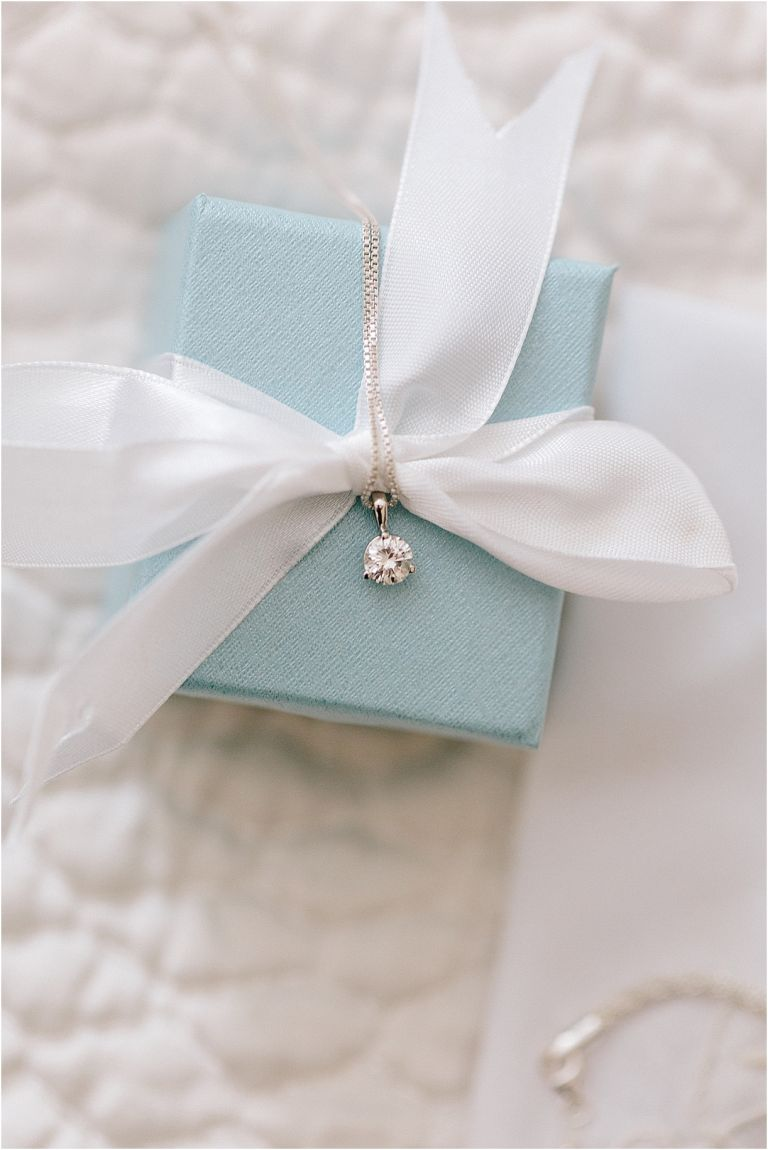 A Pink and Aqua Roanoke Virginia Wedding as seen on Hill City Bride Blog and Magazine - diamond necklace