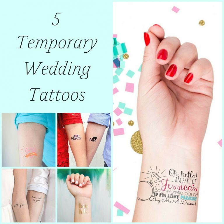 5 Temporary Wedding Tattoos as seen on Hill City Bride