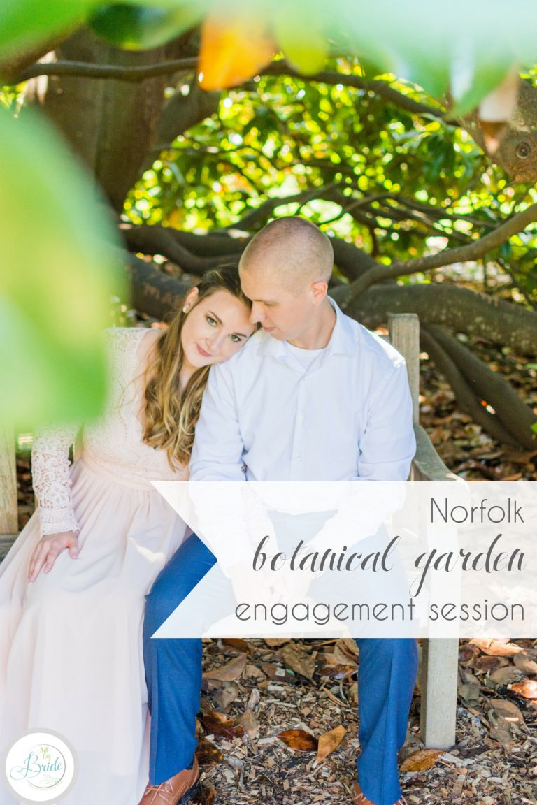 Norfolk Botanical Garden Engagement Session | Hill City Bride Virginia Wedding Blog