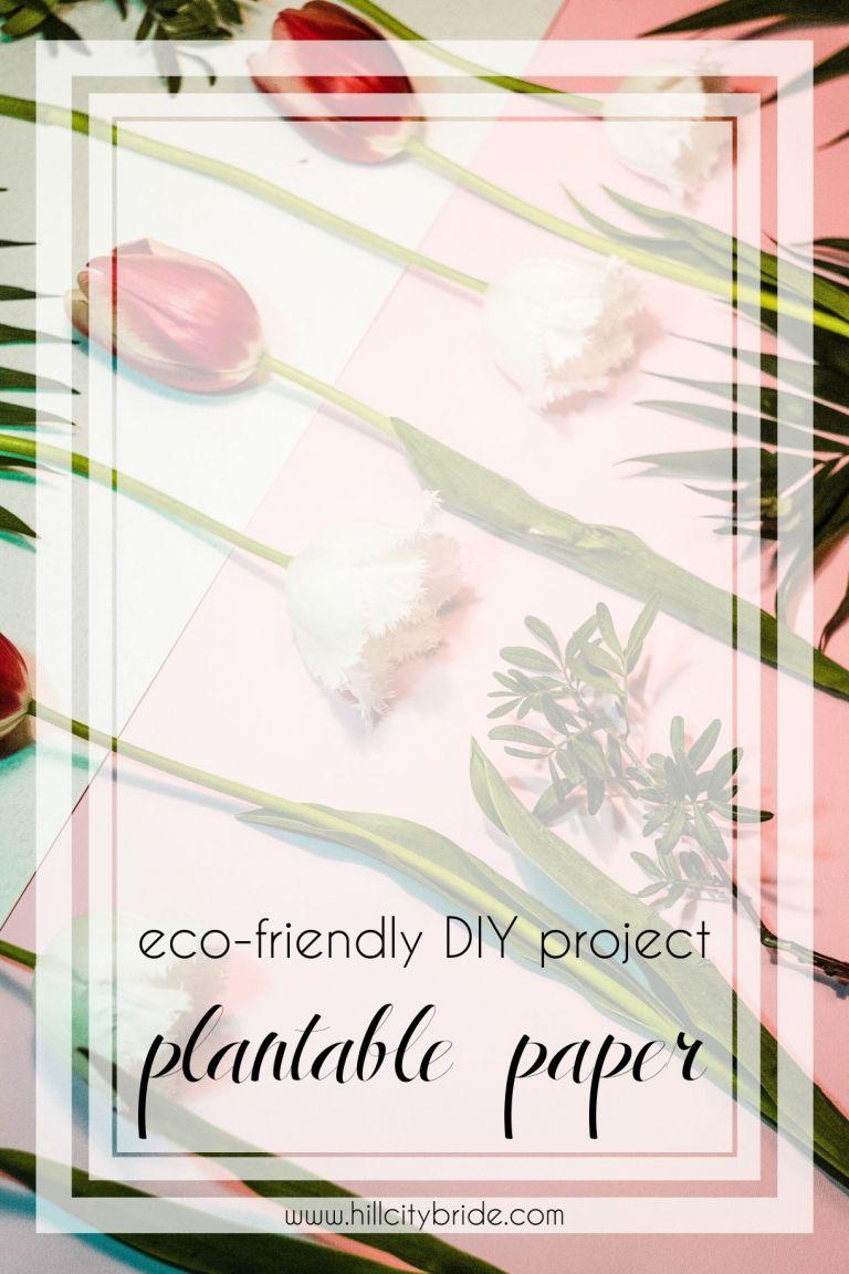 Eco-Friendly Plantable Paper - DIY Seed Paper | Hill City Bride Virginia Weddings