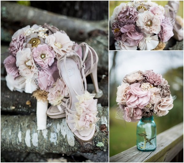 April B Photography Wedding Ribbon Flowers