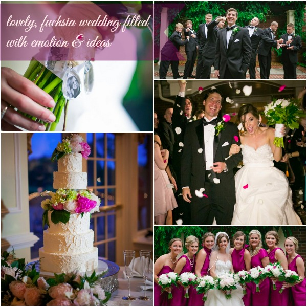 Fuchsia Wedding by Rebecca Keeling as seen on Hill City Bride