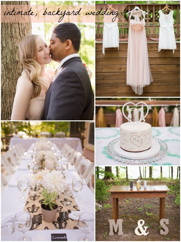 Intimate Backyard Wedding by Anna Clark as seen on Hill City Bride