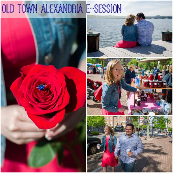 Old Town Alexandria Engagement by Antonio Rocha as seen on Hill City Bride