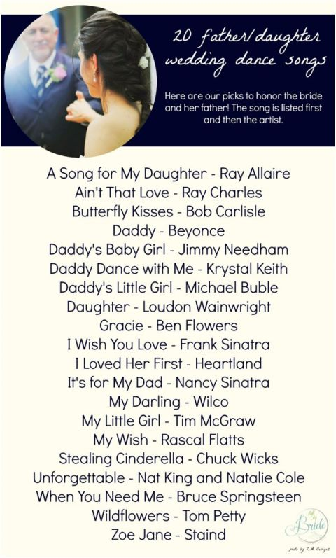20 Father Daughter Dance Song Ideas Hill City Bride Virginia Wedding Blog