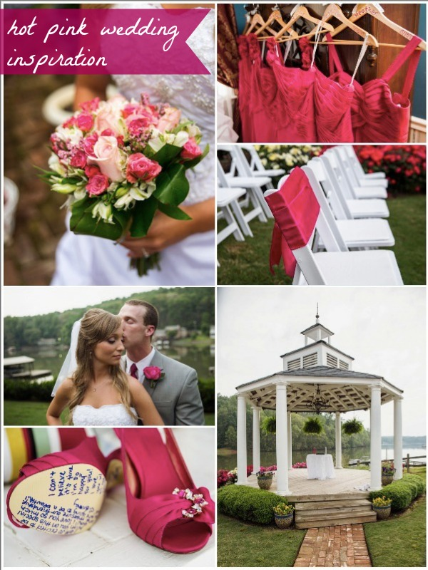 Hot Pink Wedding Inspiration by Christopher Bell as seen on Hill City Bride