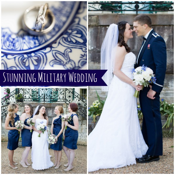 Military Wedding by Lindsay Fauver as seen on Hill City Bride