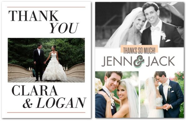 Thank You Note Ideas Hill City Bride – Wedding Paper Divas Thank You Cards