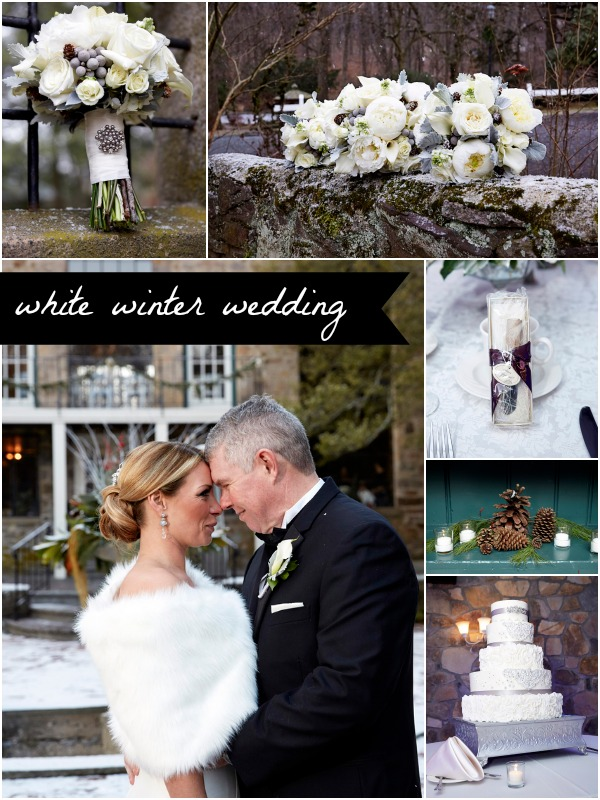 White Winter Wedding as seen on Hill City Bride