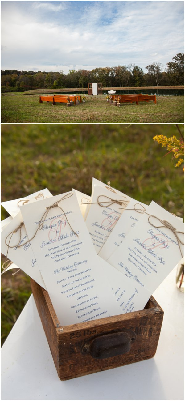 Wedding Programs by Visions Photography as seen on Hill City Bride