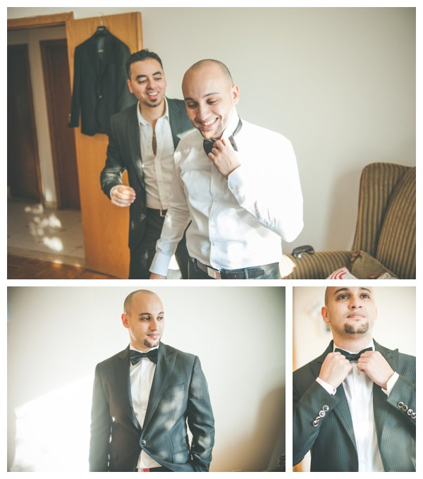 Groom Getting Ready by Caroline Lessard Photographe as seen on Hill City Bride