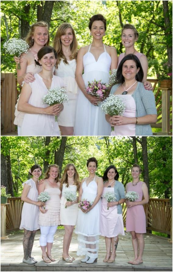 Bridesmaids by Cadey Reisner Weddings as seen on Hill City Bride