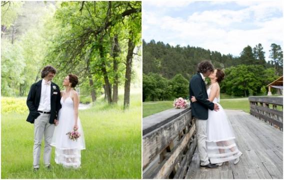Cadey Reisner Weddings as seen on Hill City Bride - Couple