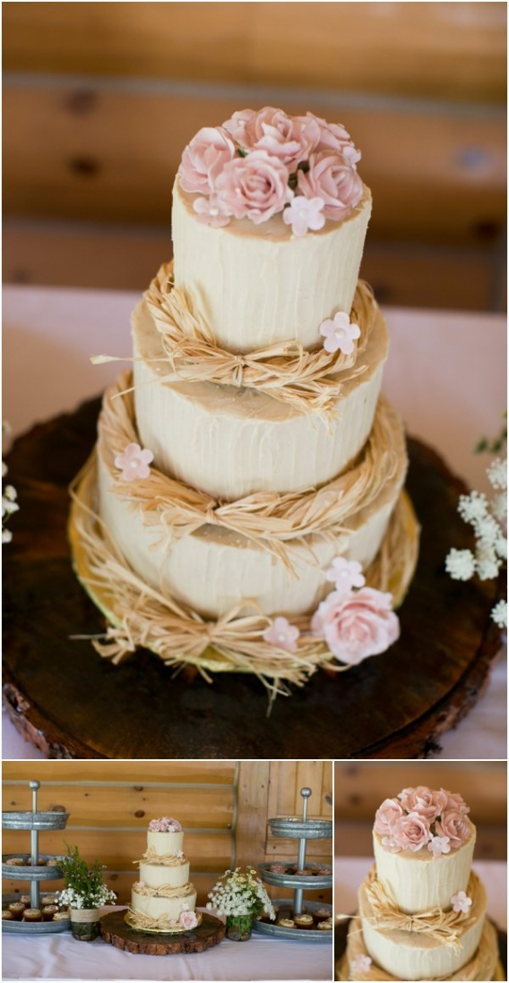 Cake by Cadey Reisner Weddings as seen on Hill City Bride