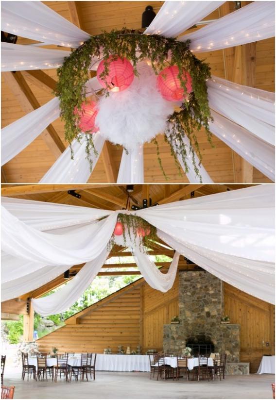 Ceiling by Cadey Reisner Weddings as seen on Hill City Bride