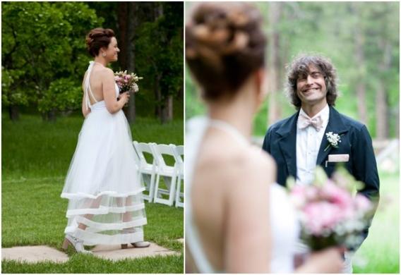 Ceremony by Cadey Reisner Weddings as seen on Hill City Bride