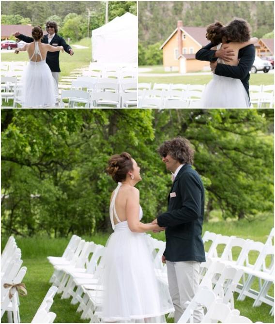 First Look by Cadey Reisner Weddings as seen on Hill City Bride