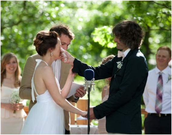 South Dakota Ceremony by Cadey Reisner Weddings as seen on Hill City Bride