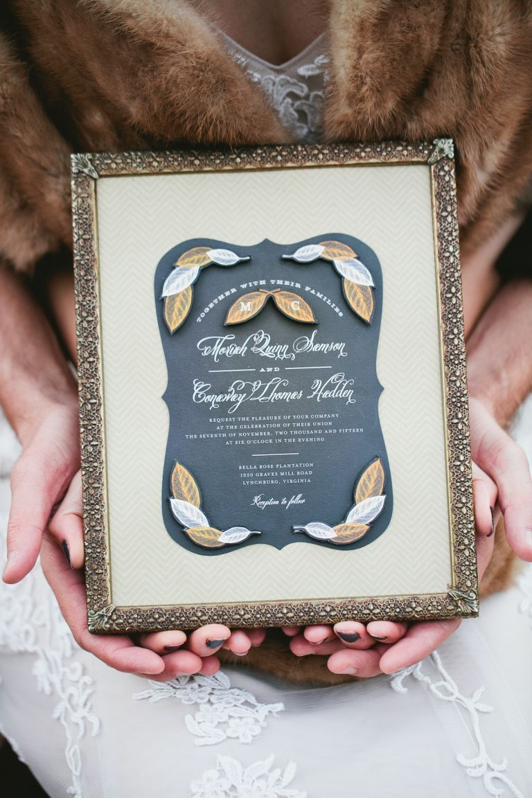 What to Do with Excess Wedding Invitations | Wedding Card Keepsake Frame
