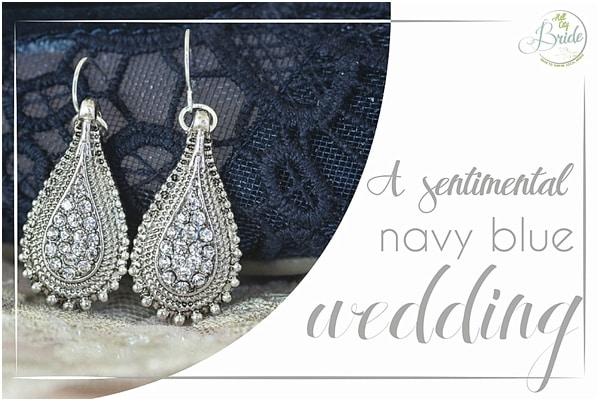 Sentimental Navy Blue Wedding
