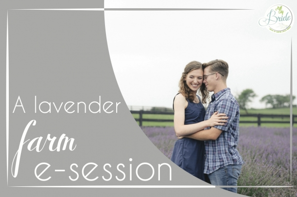 Viginia Lavender Farm Engagement Session as seen on Hill City Bride