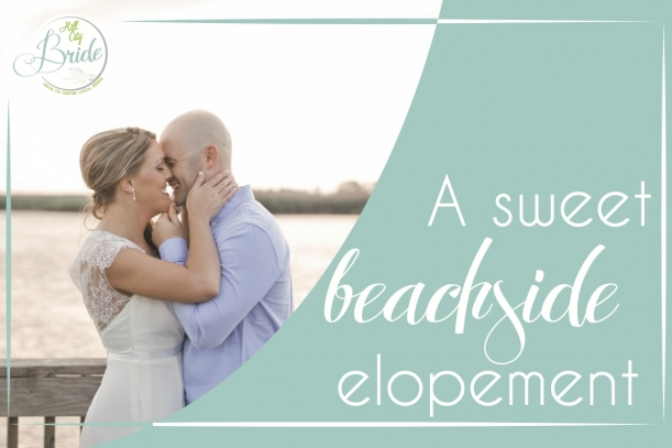 Beach Elopement as seen on Hill City Bride