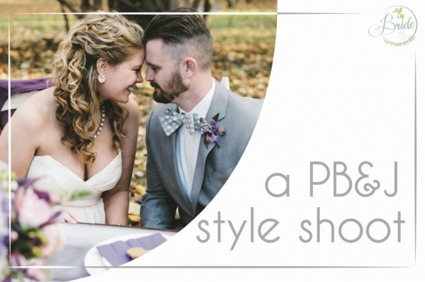 Plum Wedding Shoot as seen on Hill City Bride