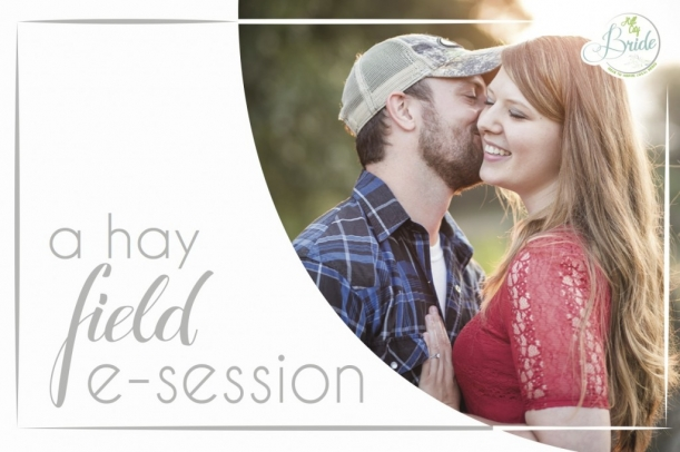 Virginia Hay Field Engagement as seen on Hill City Bride