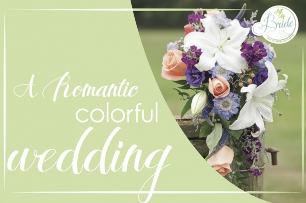 Romantic Colorful Wedding as seen on Hill City Bride