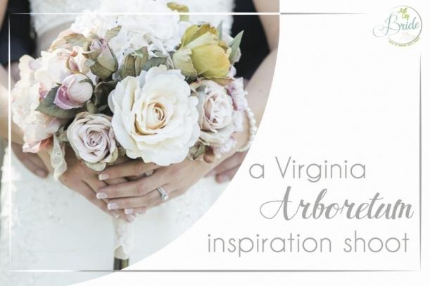 Virginia Arboretum Wedding as seen on Hill City Bride
