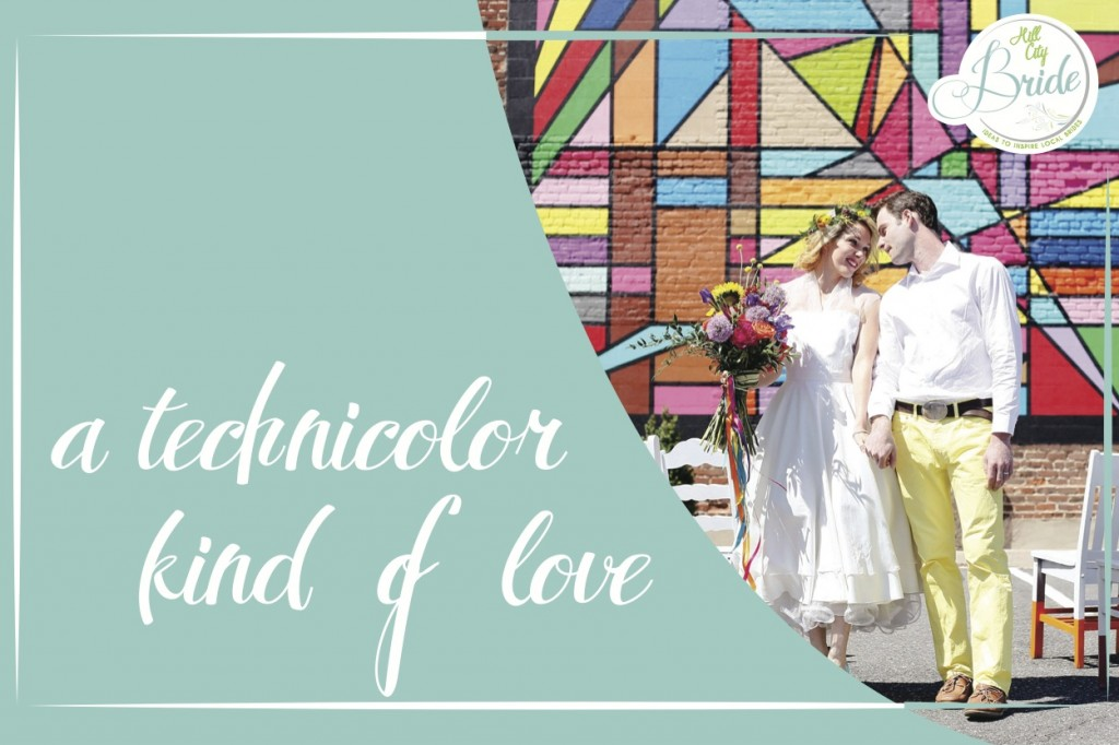 Technicolor Kind of Love Style Shoot as seen on Hill City Bride