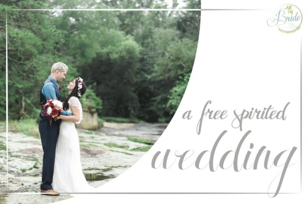 Free Spirited Wedding by Stephanie Yonce as seen on Hill City Bride