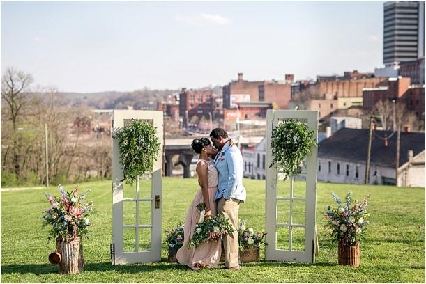 Rose Quartz and Serenity Lynchburg Virginia Style Shoot as seen on Hill City Bride