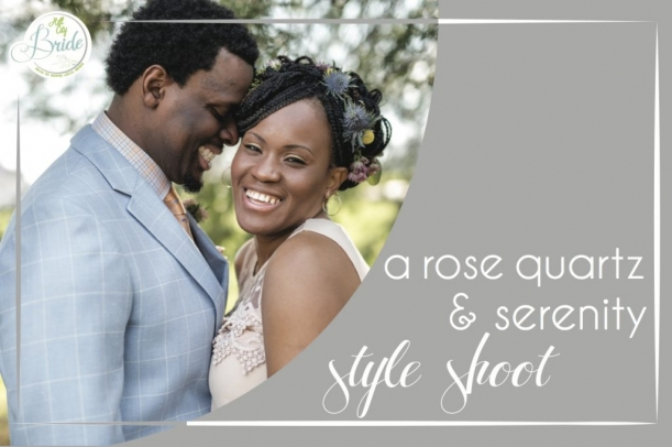 Rose Quartz and Serenity Wedding as seen on Hill City Bride