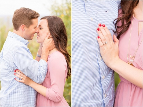 Fall Orchard Engagement Session as seen on Hill City Bride Virginia by J and D Photography