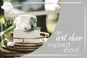 Art Deco Wedding Styled Shoot as seen on Hill City Bride Virginia Blog - gold, aqua, white, greenery